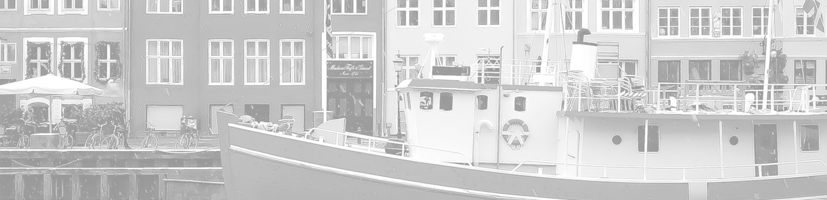 Transparent-Gray Background of Ship Docked in a Town in Denmark