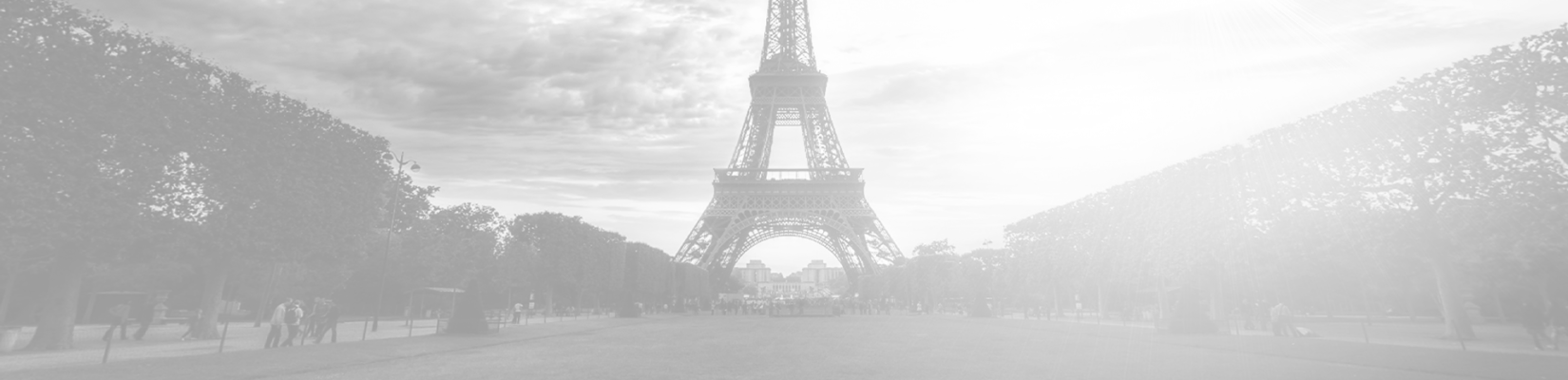 Transparent-Gray Background of Eiffel Tower in Paris, France - BluJay Customs Management and Trade Compliance