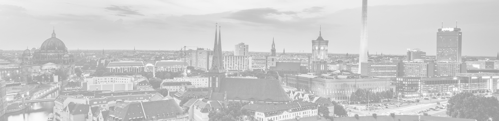 Transparent-Gray View of City in Germany - BluJay Customs Management and Trade Compliance