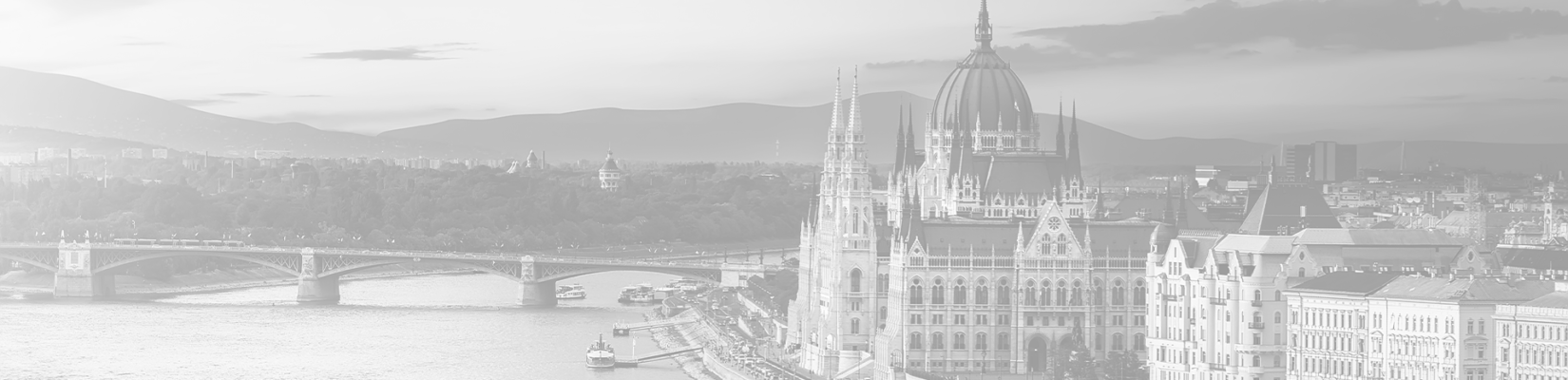 Transparent-Grey Background of City in Hungary