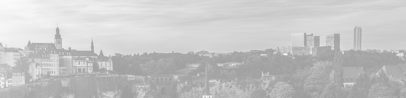 Transparent-Gray Background of City in Luxembourg