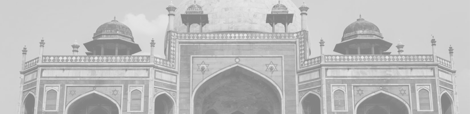 Transparent-Gray Background of Humayun's Tomb in India